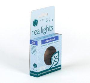 Way Out Wax Tea Lights Clear Head